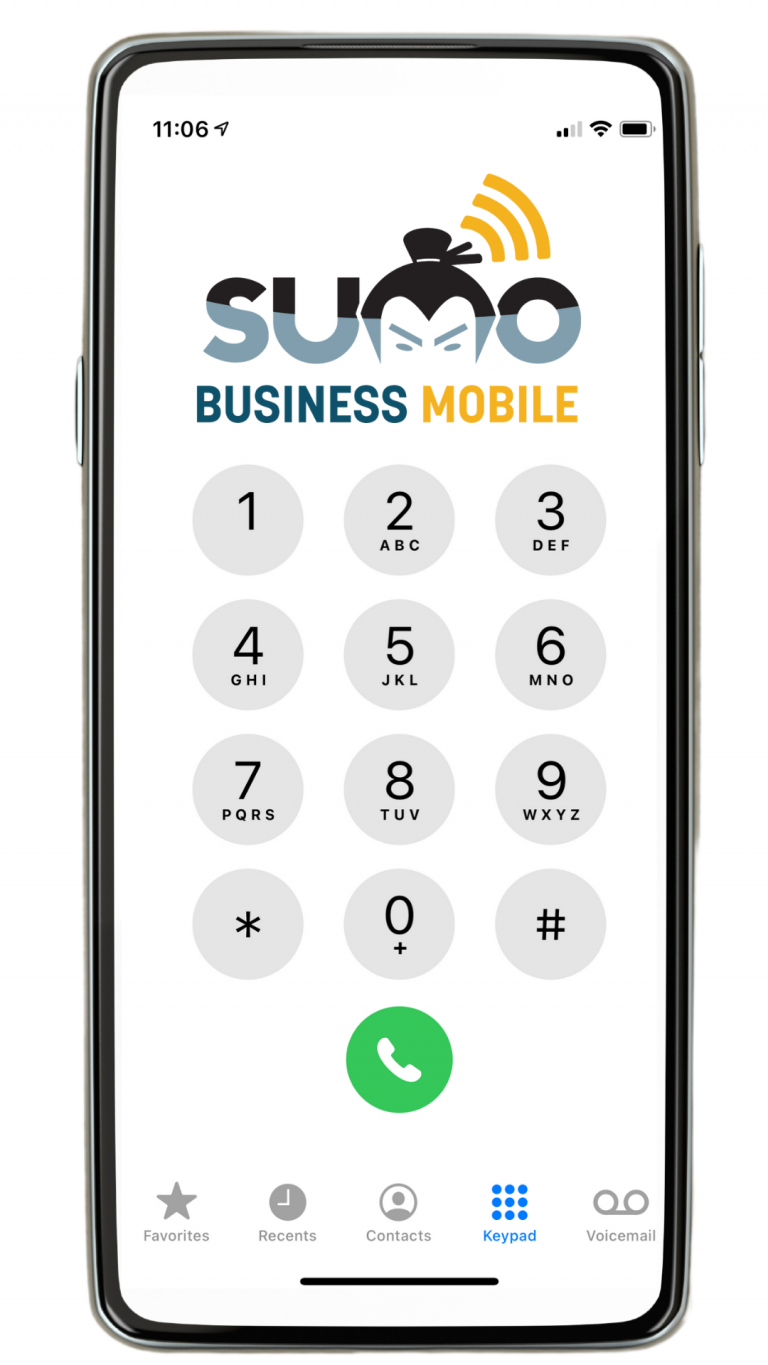 cellular PBX cell phone with sumoWiFi logo