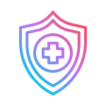 healthcare icon - shield with cross